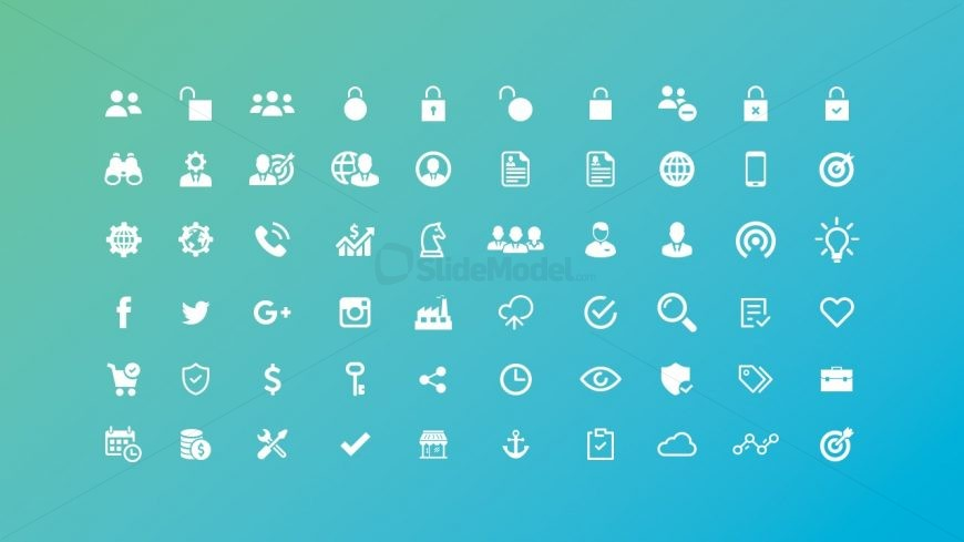 Unique Data Charts and Icons for PowerPoint