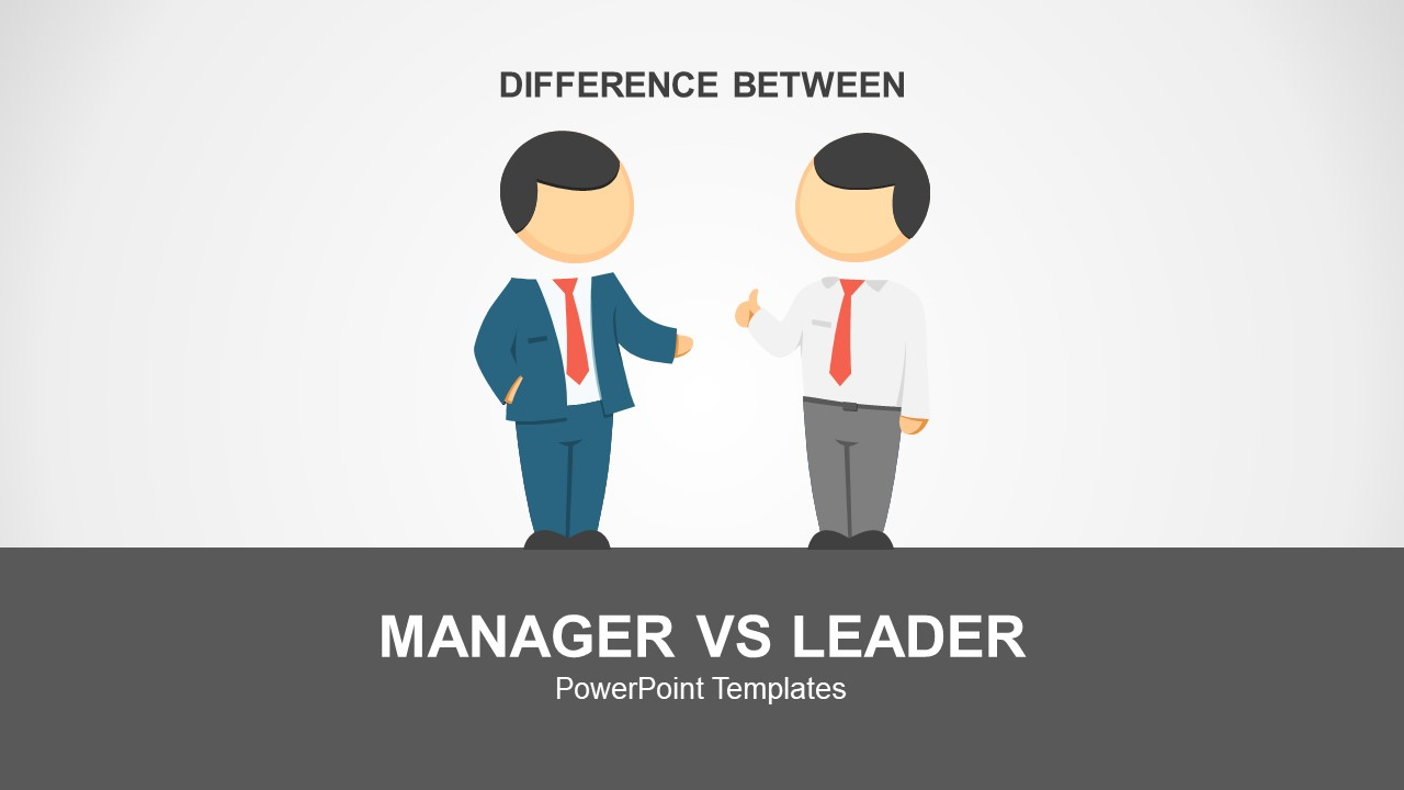 manager vs leader powerpoint template - slidemodel, Modern powerpoint