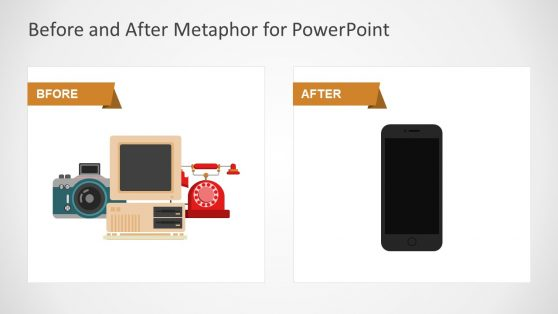 Before and After Metaphor PowerPoint Template