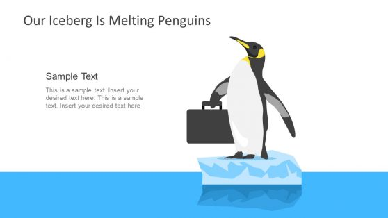 Template Layout PowerPoint Penguin