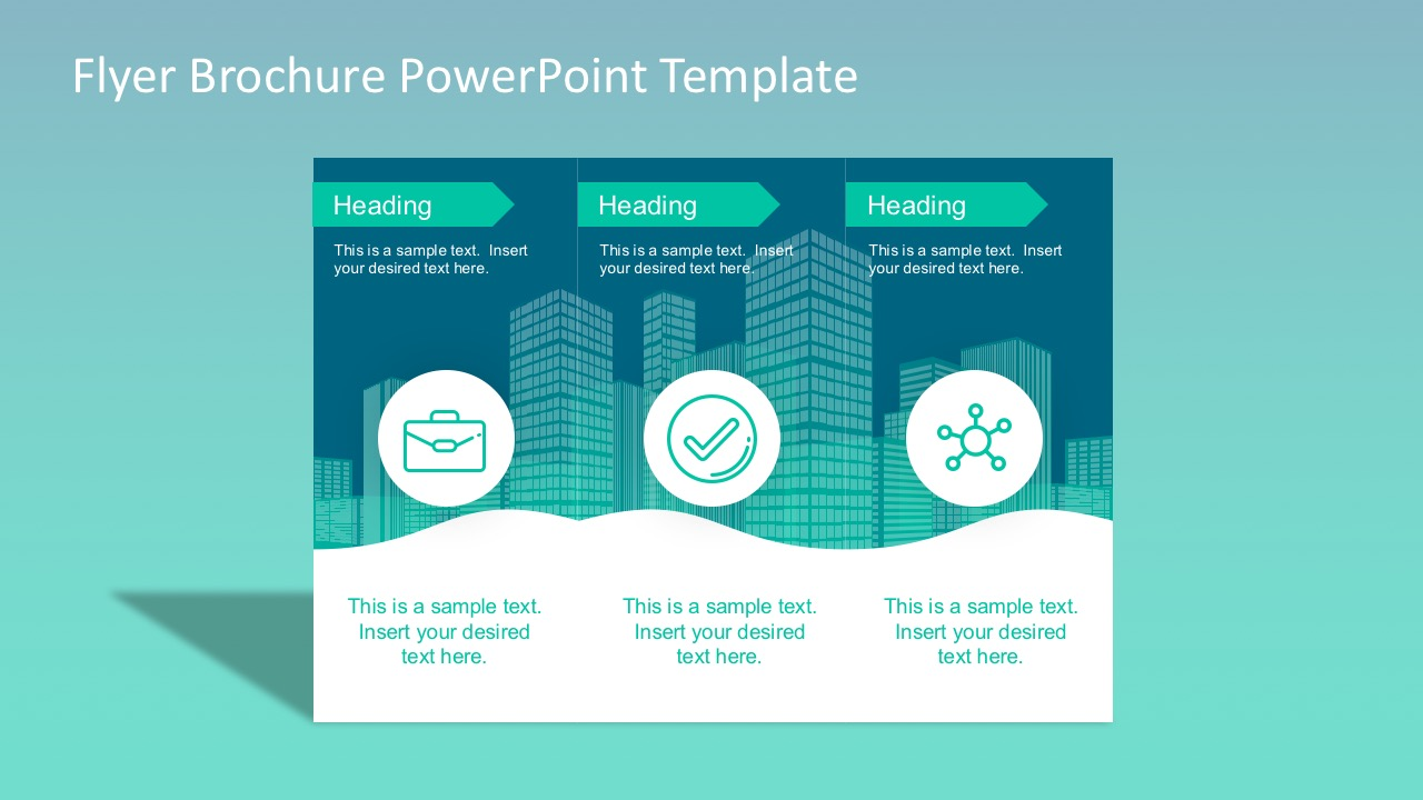 flyer brochure powerpoint template - slidemodel, Modern powerpoint
