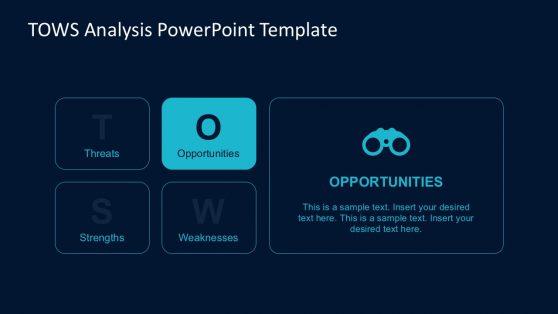 Strategic TOWS Analysis PowerPoint Diagrams