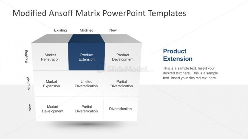9 Boxes Ansoff Matrix PowerPoint Template