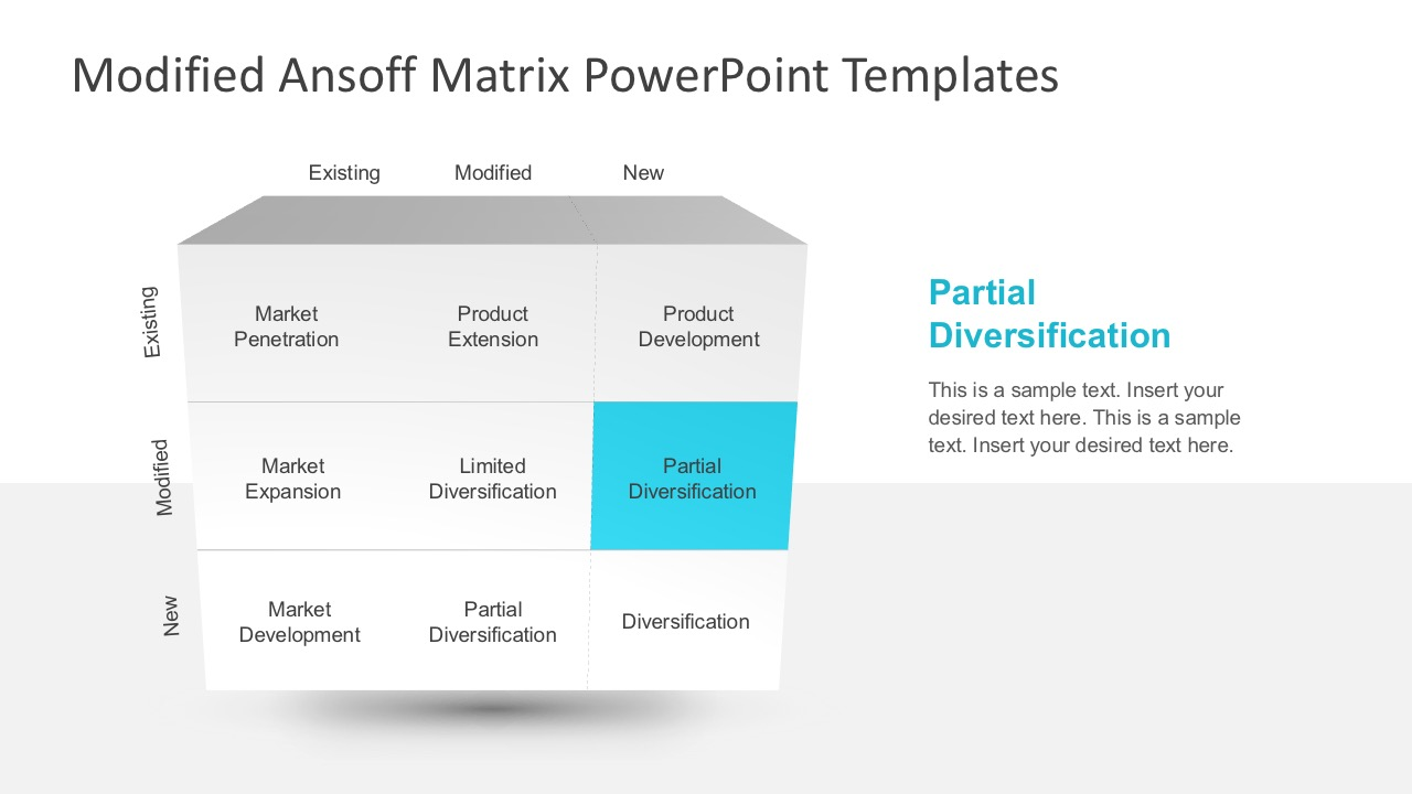 Modified ansoff matrix powerpoint template slidemodel ansoff growth diagram powerpoint toneelgroepblik Image collections