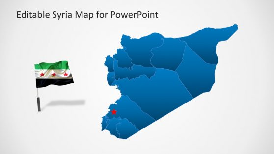 Syria Map with Country Flag