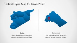 Damascus Syria PowerPoint Map