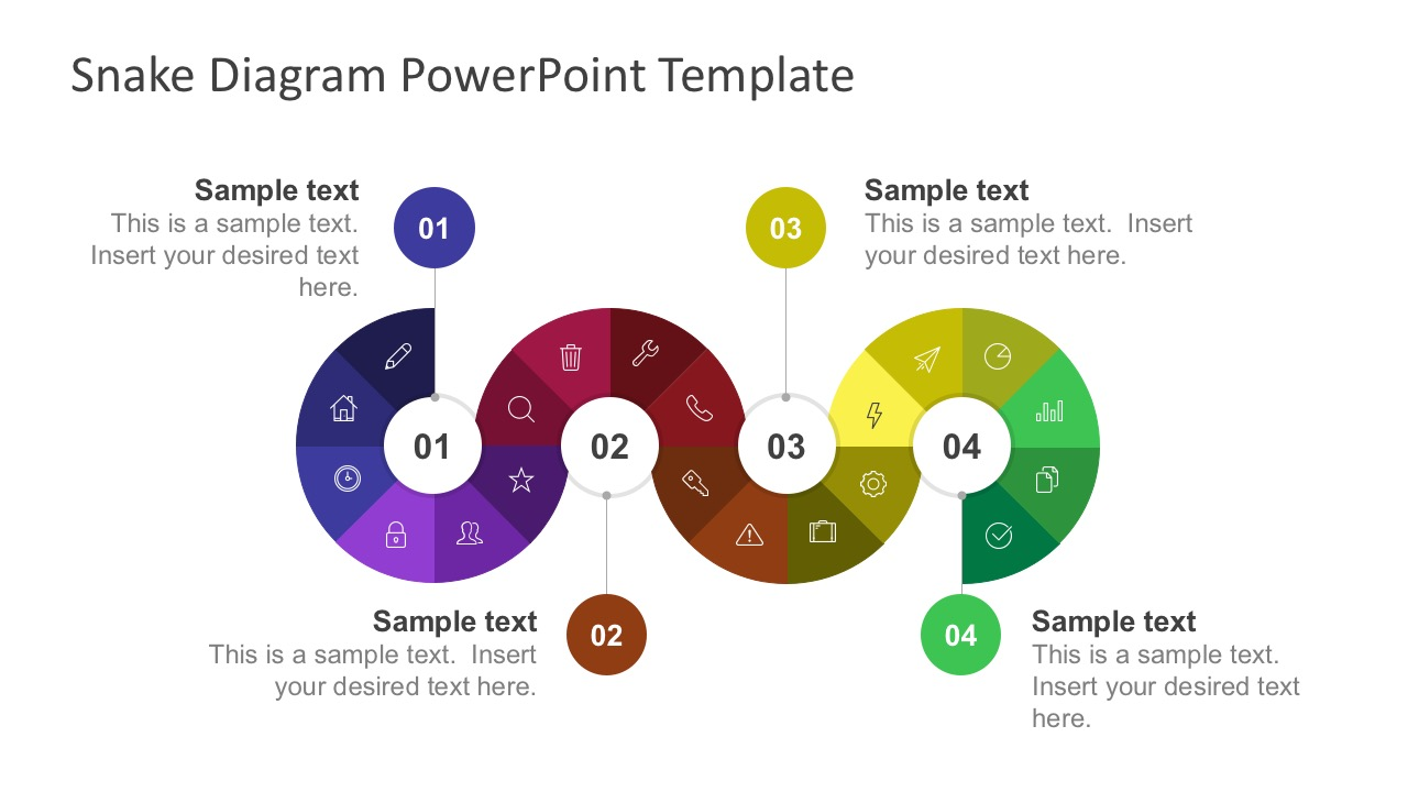 4 Step Diagram Powerpoint Slide
