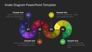 Snake Milestone PowerPoint Diagram