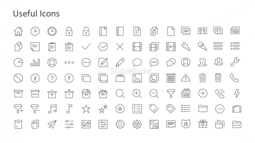 Flat Hand Drawn PowerPoint Icons