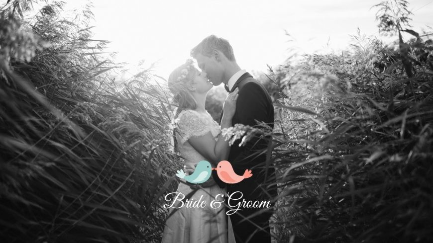 Editable Bride Groom Portrait  Slide