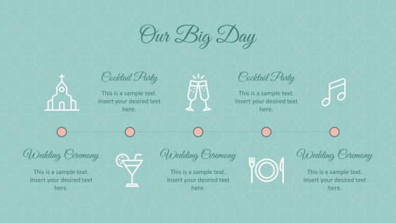 Cocktail Wedding Powerpoint Templates