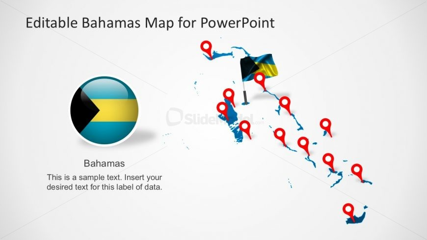Bahamas Country Map for PowerPoint