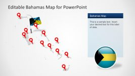 Bahamas Slide Map with Pin Icons