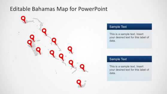Editable Map Templates of Bahamas Country