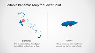Nassau Map Marker PowerPoint Slide