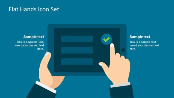 Flat Vector Icon Hand and Tablet Template