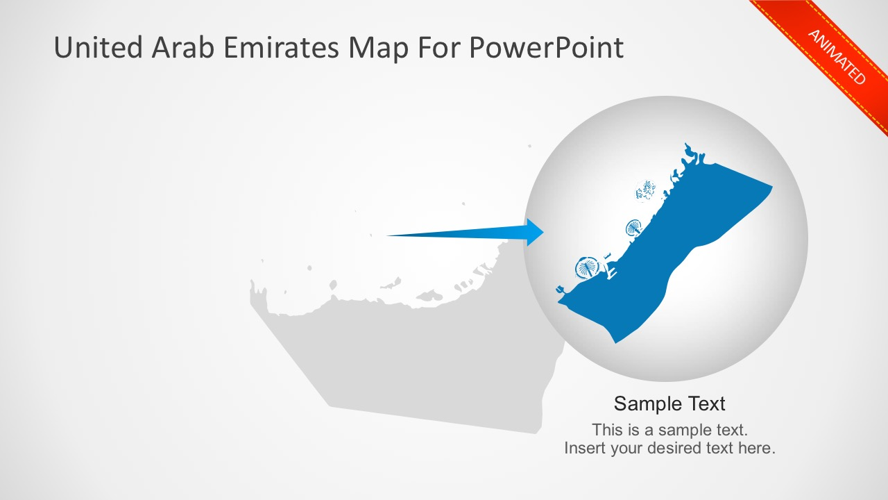 United Arab Emirates PowerPoint Map Slides