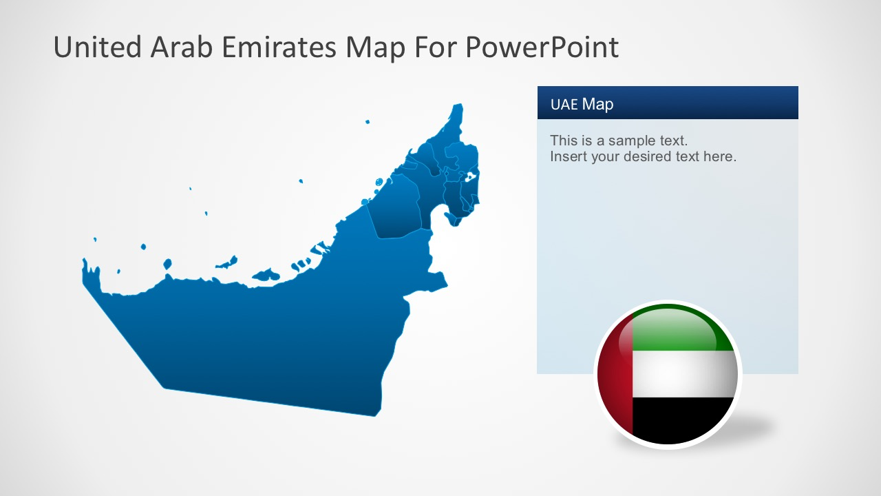 Animated United Arab Emirates PowerPoint Map - SlideModel