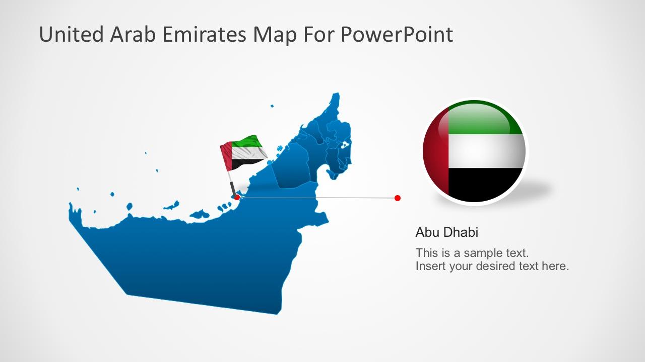 UAE Flag Editable Shape
