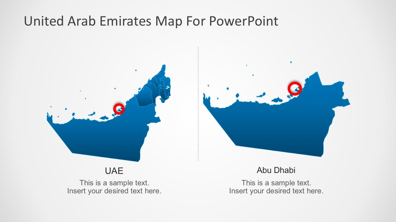 Template Map of Abu Dhabi UAE