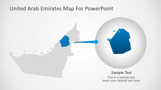 UAE Highlight Map PowerPoint