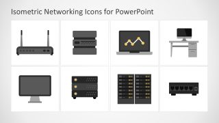 Flat Networking Icons for PowerPoint