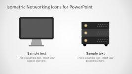 Network Tech Illustration Set Vectors