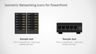 Isometric Networking Icons Vectors