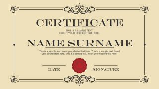 Formal Certificate PowerPoint Templates