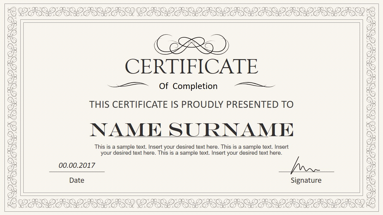 stylish certificate powerpoint templates