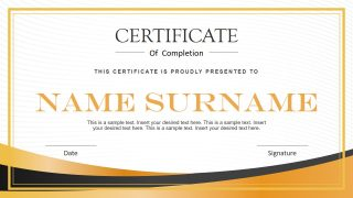 Certification Template Design in PowerPoint