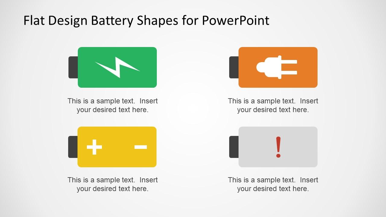 Flat Vector Power Battery Signs