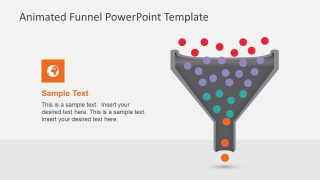 animated funnel diagram for powerpoint slidemodelbar chart for analysis; sales acquisition process flow