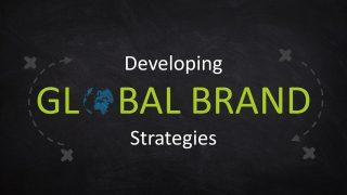 Global Brand Slide Blackboard Background