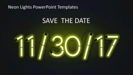 Neon Light Date PowerPoint