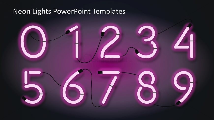 Number shapes in neon color slidemodel number shapes in neon color toneelgroepblik Choice Image