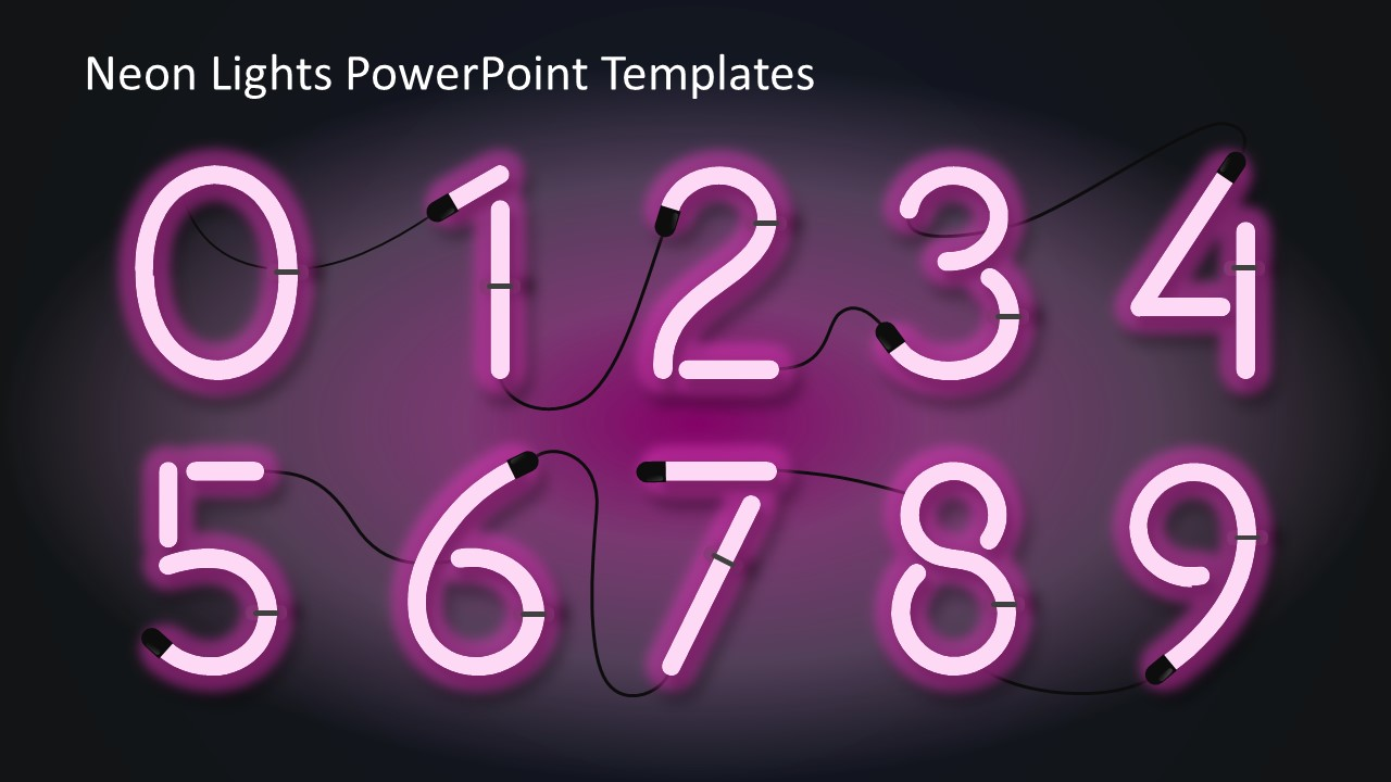 Neon Lights PowerPoint Templates