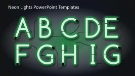 Alphabets Green Neon Light Slide