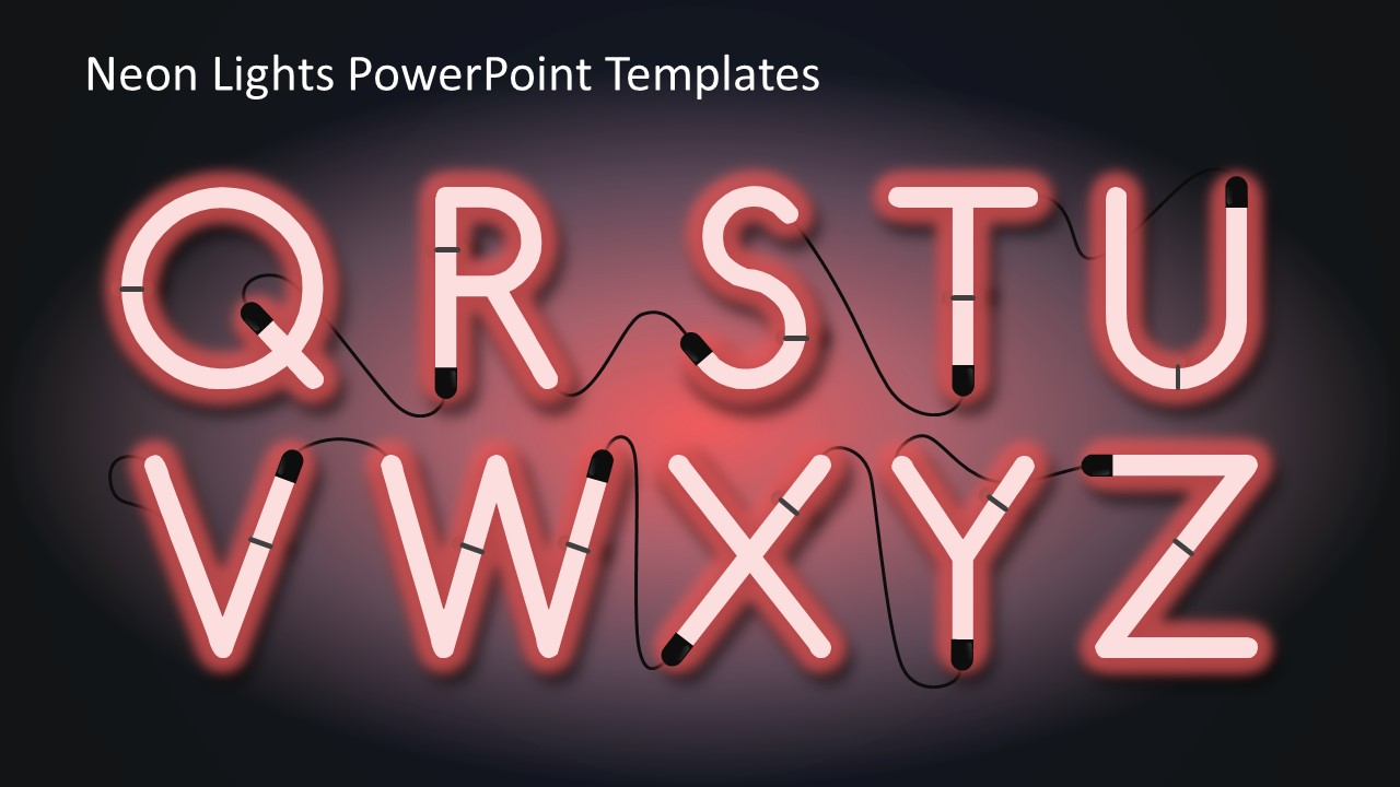 Neon Lights PowerPoint Templates SlideModel