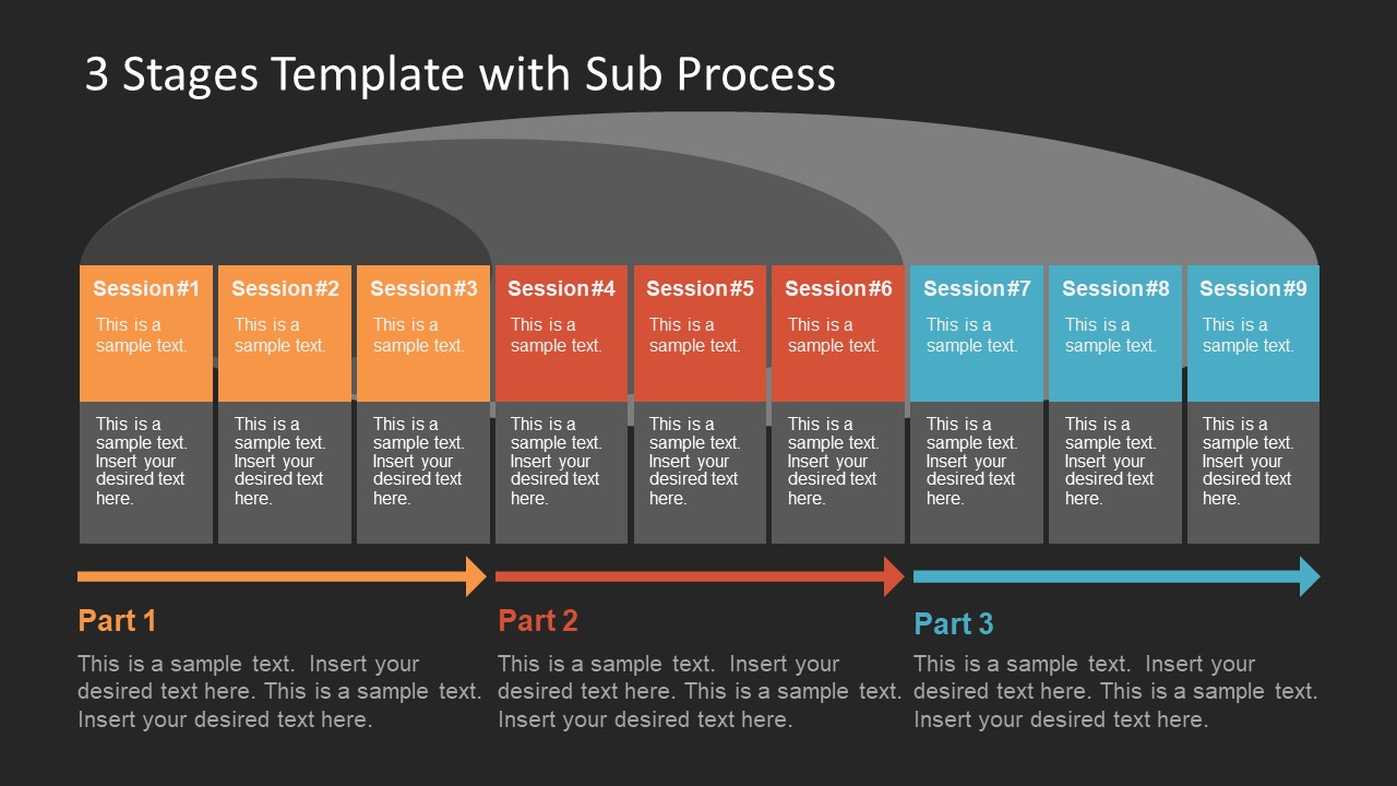 Colorful Template Slide for Work Flow