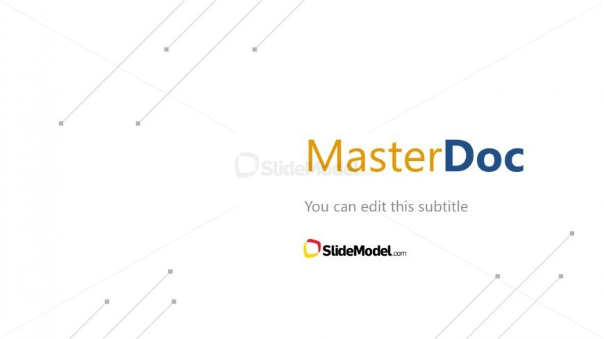 First SLide of MasterDoc Presentation