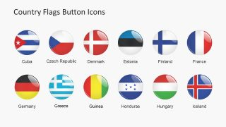 Glossy Icon Flag Slide