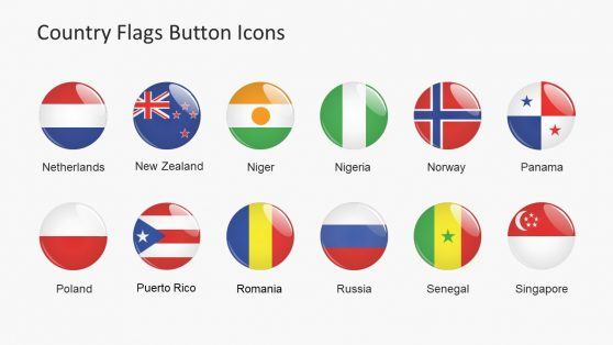 Flags and Icons World Map