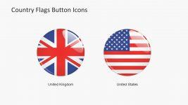 Large Button USA and UK Flag