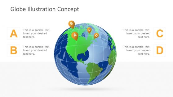 World Map PowerPoint Shapes