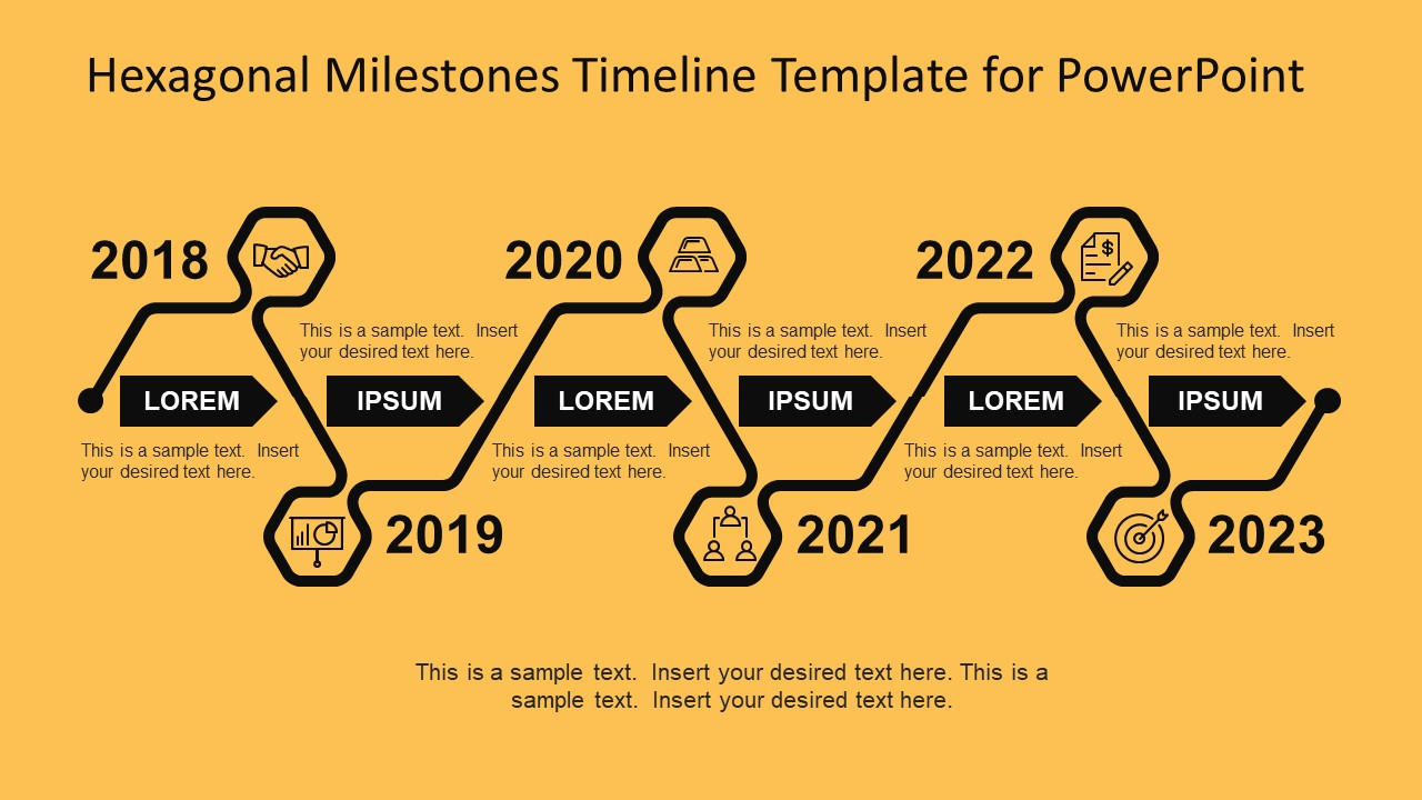 Hexagonal Milestone Infographic Icons