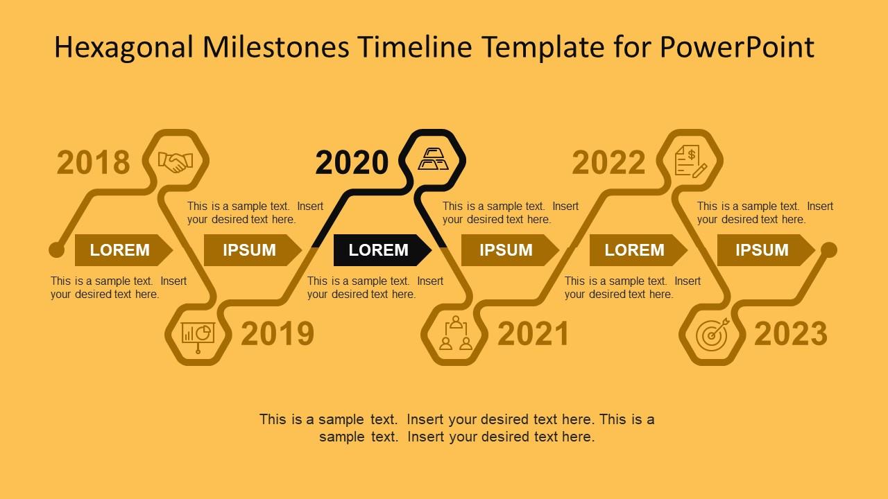 Innovative Design for Hexagonal Timeline