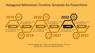 Milestone and Road Map Hexagonal PowerPoint