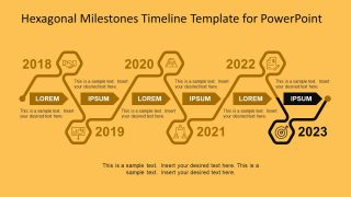 Progress Line Business PowerPoint Template