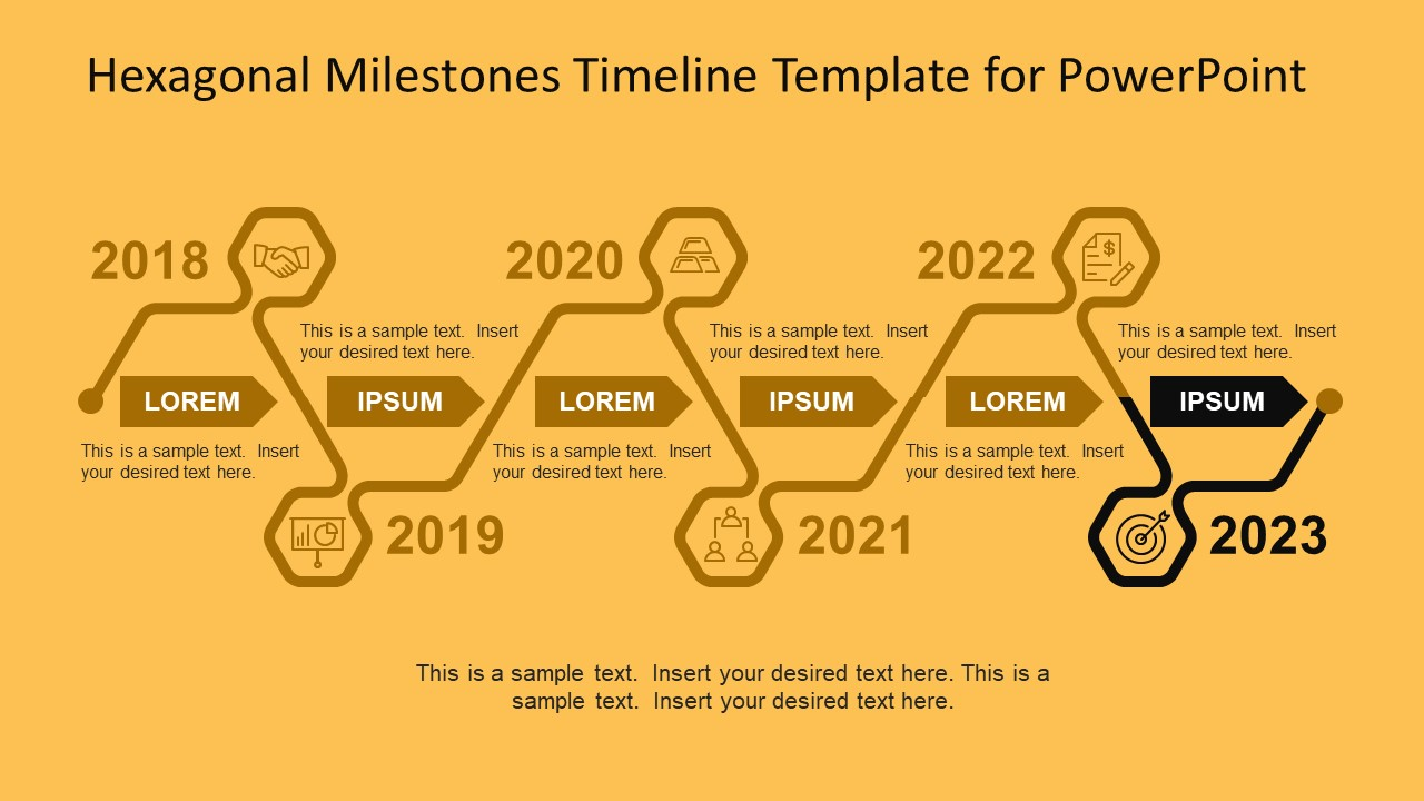 Hexagonal milestones timeline template for powerpoint slidemodel progress line business powerpoint template toneelgroepblik Images